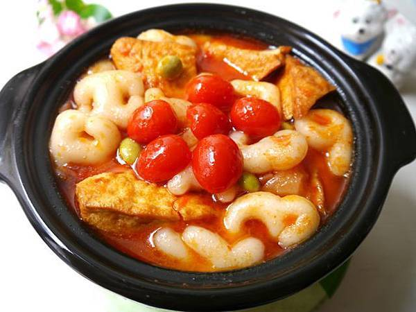 1-----茄汁年糕豆腐煲