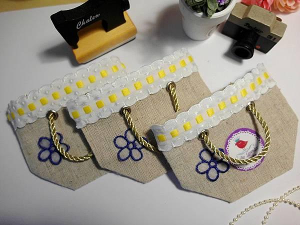 春天的小花提袋日本麻布+緞帶.JPG
