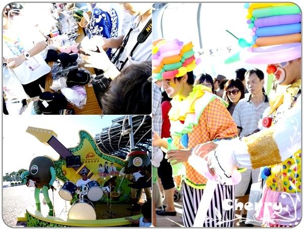滿滿都是人的世運館,有小丑折氣球、紀念品專賣店、還有系金ㄟ!
