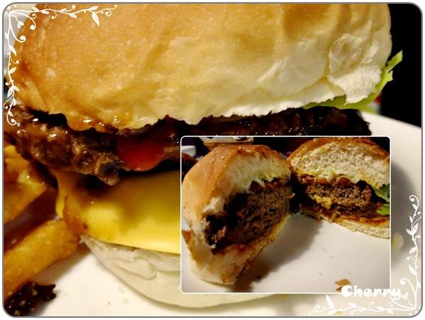 雙層吉士牛肉漢堡~好吃!