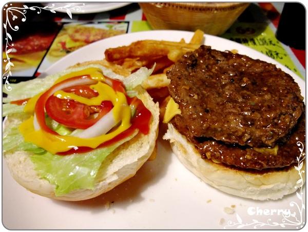 雙層吉士牛肉漢堡