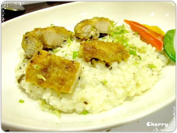 斑比風菌菇雞肉奶油燉飯
