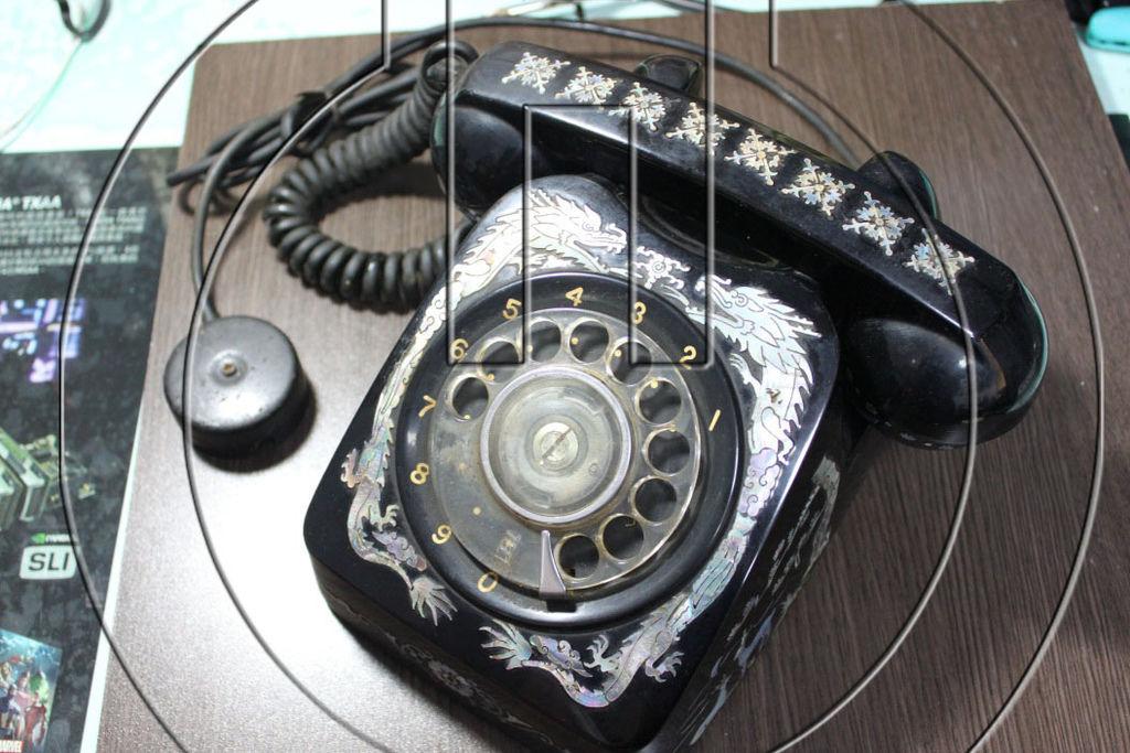 電話機正面