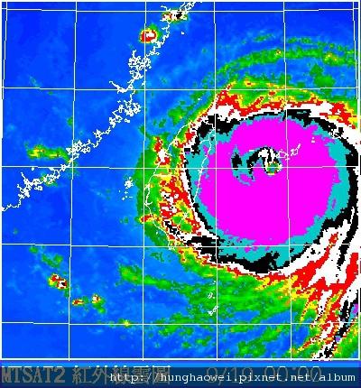 2010凡那比颱風紅外線圖