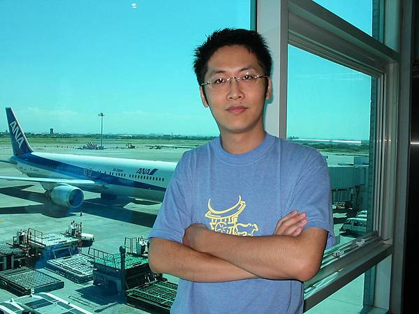 傻蛋在中正機場(2005.9.29)