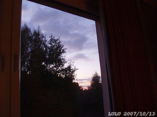 我的窗外~日落