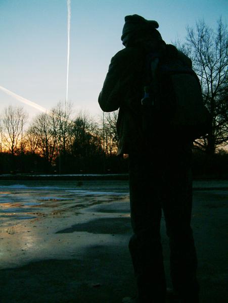 the declining sun