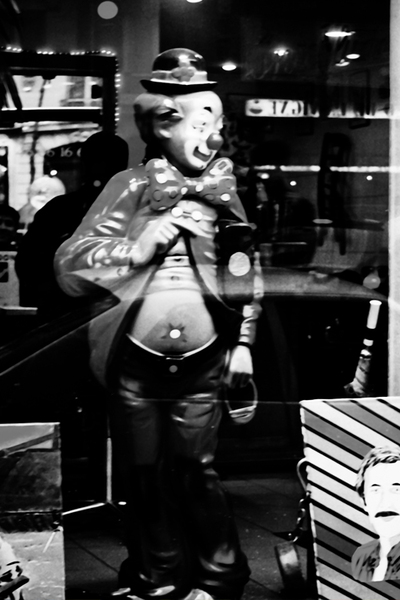 clown in the barbershop