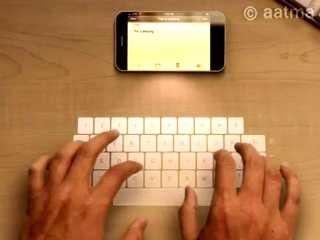 iPhone 5雷射鍵盤