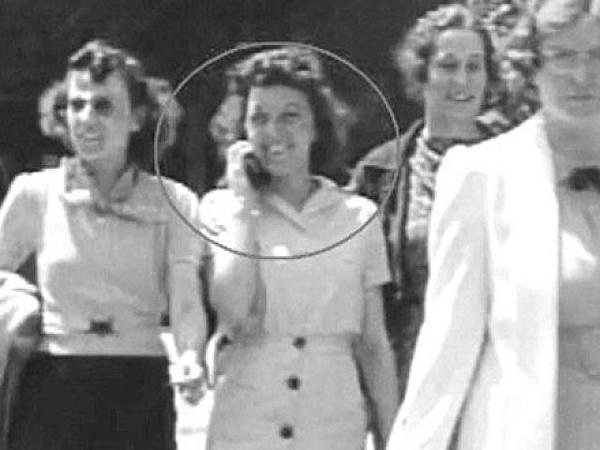 1938年影片中的時間旅行者