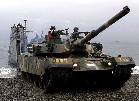 南韓K1A1,北韓天馬虎戰車