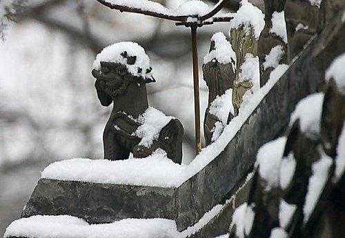 石獸 - 大覺寺雪景