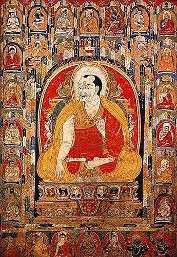 貢塘喇嘛向宇扎巴像唐卡