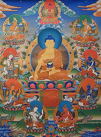 釋迦牟尼佛和八大菩薩