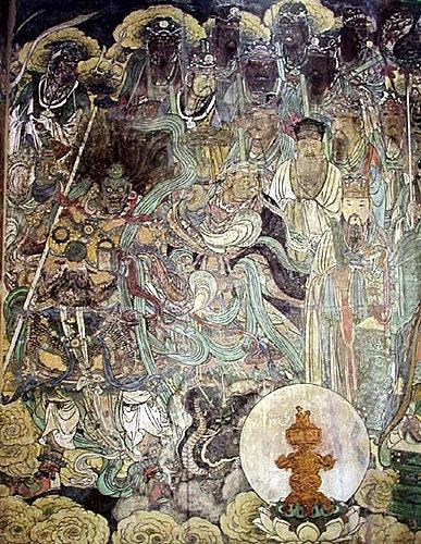 天蓬大元帥及十二元神 三清殿東壁