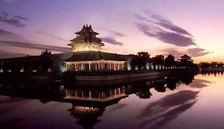北京故宮角樓夜景