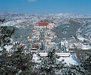 承德避暑山莊普陀宗乘廟雪景