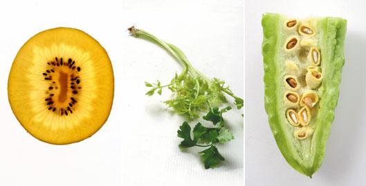 奇異果、芹菜、山苦瓜