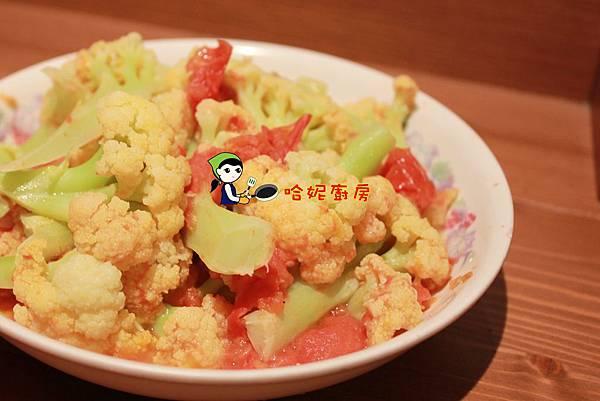 哈妮素食譜-茄汁白花椰