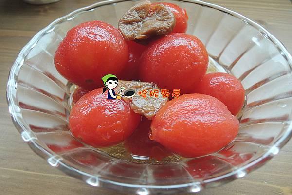 哈士奇居家生活-哈妮素食譜-梅漬蜜番茄74