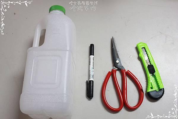 哈士奇居家生活-環保DIY-家庭號塑膠瓶變身小鏟子 02