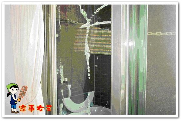 哈士奇居家清潔公司、家事服務-家事女王-玻璃殘膠之清潔-清潔前.JPG