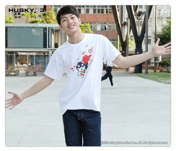 H3 短袖圓領衫 超人 (白)