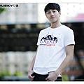 H3 短袖圓領衫 AomeHusky標誌 (白色)