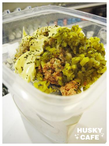 鮪魚沙拉起司堡-2