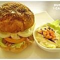 燻雞肉沙拉起司堡-4