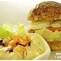 燻雞肉沙拉起司堡-5
