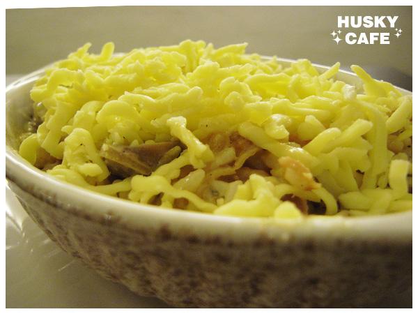 美式燻雞蘑菇起司焗飯-1
