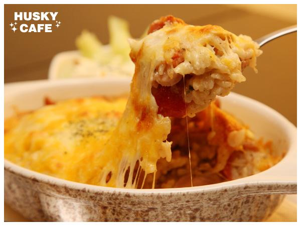 美式燻雞蘑菇起司焗飯-4