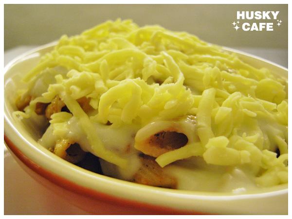 義式奶油培根通心麵-1