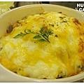 美式燻雞蘑菇起司焗飯-7