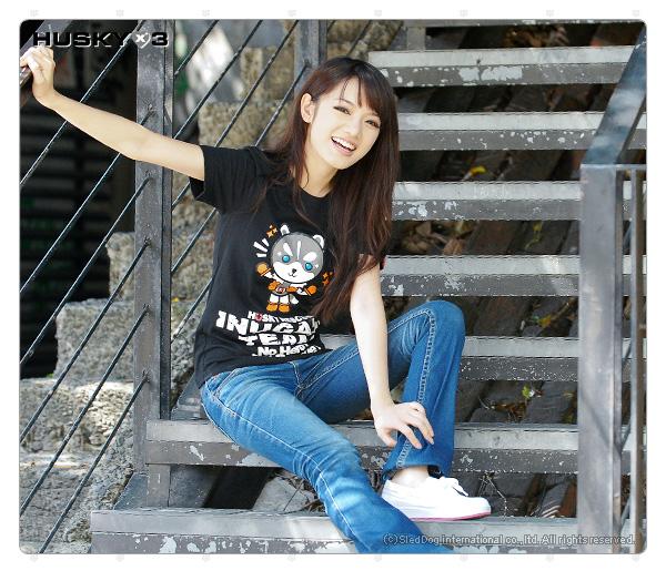 H3 短袖圓領衫 犬神小隊 青目 (黑色)
