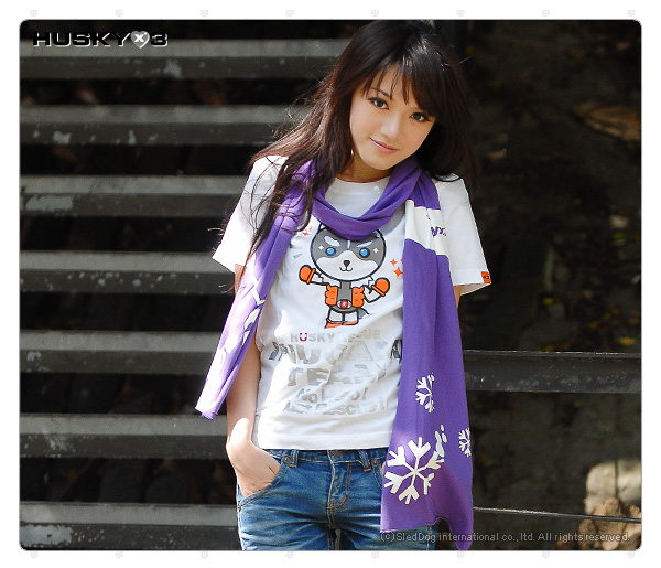 H3 短袖圓領衫 犬神小隊 青目 (白色)
