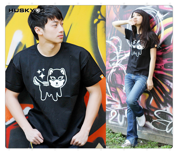 H3 短袖圓領衫 骷髏犬 (黑)