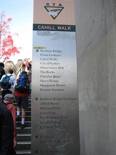 Sydney CAHILL WALK