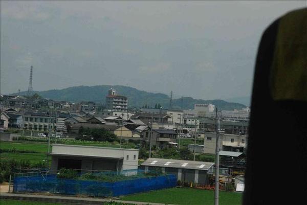 通往京都的列車上