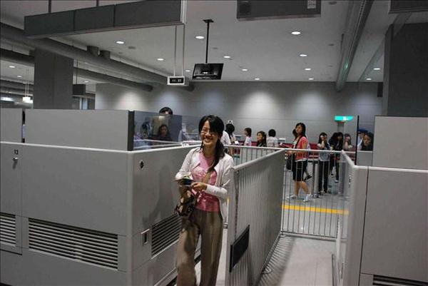 日本關西機場出關後