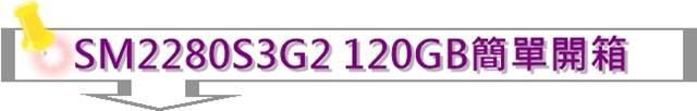 金士頓SSDNow SM2280S3G2 120GB M.2 SSD簡單開箱