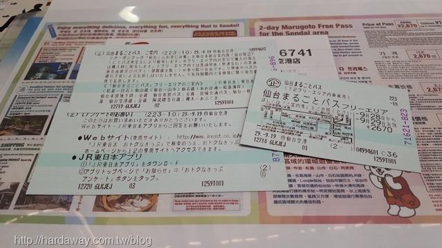 仙台二日周遊券