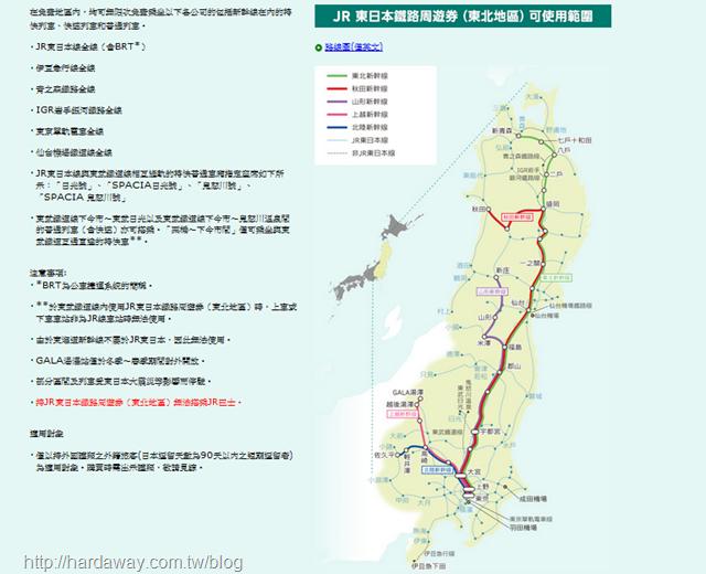 JR東日本鐵路周遊券東北版