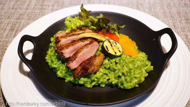 鴨胸青醬燉飯