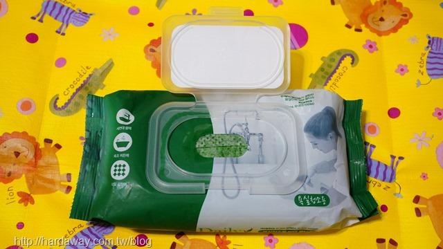 DailyWater浴廁用拋棄式雙面菜瓜布濕紙巾