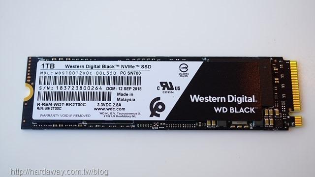 WD 黑標 NVMe SSD
