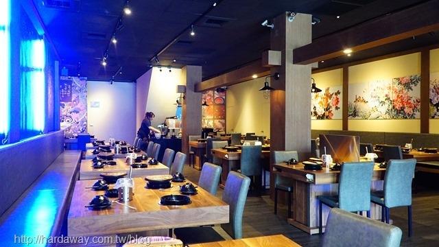 上老石鍋台南中華店用餐空間