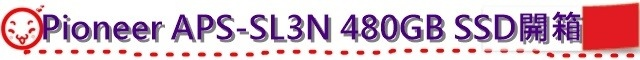 Pioneer APS-SL3N 480GB SSD開箱