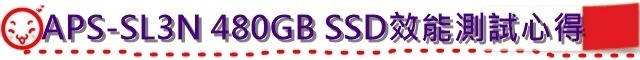 APS-SL3N 480GB SSD效能測試心得